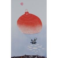 Roter Fesselballon