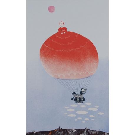 Rode gevangen ballon