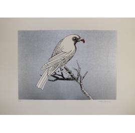 Vogel mit Wurm