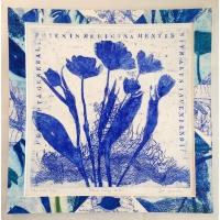 Tulips blue print