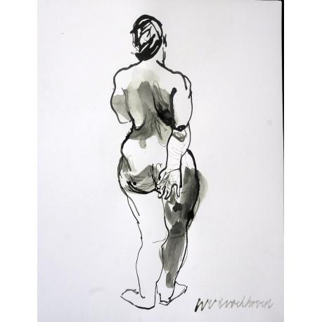 Staand Rugnaakt (Standing Back Nude)