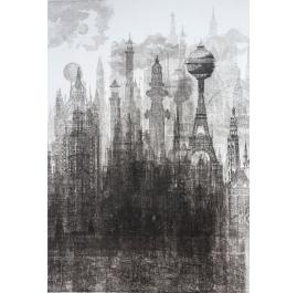 Die Stadt mit den Wolkenkratzern