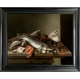 Still life with Sea Fish on Table