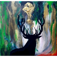 Deer in the Seat of Fire