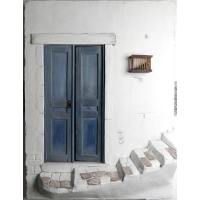 Tür mit Treppe - Spanien