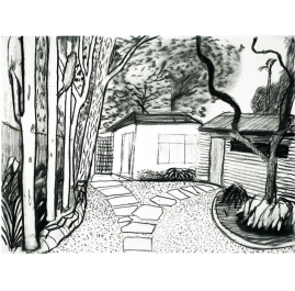 Guest house front garden II