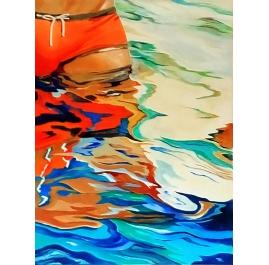 Orange Swimming Suit 4