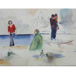 People by the sea