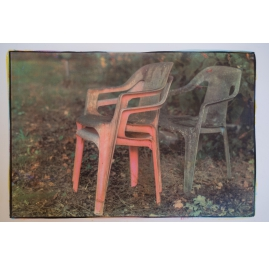"Plastic chairs, from the series ""childhoodhome"""