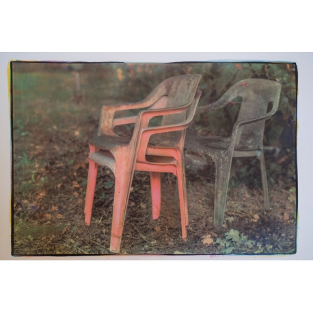 """Plastic chairs, from the series """"childhoodhome"""""""