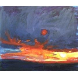 Zonsondergang bij Hooksiel (Noordzee)