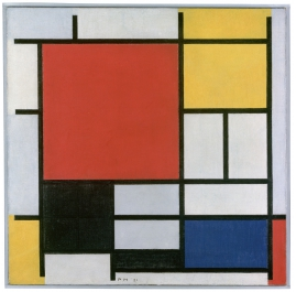 Composition with Red, Yellow, Blue and Black