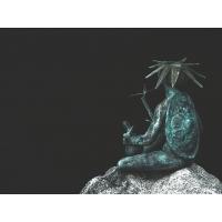 SPB. Botanical Garden. Japanese Garden Precinct. Sculpture Turtle at the Pond