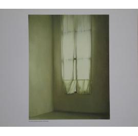 Klein raam met gordijn