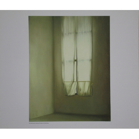Small window with curtain