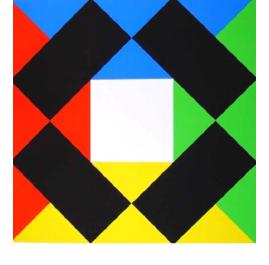 Komposition mit weißem Zentrum
