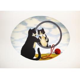 Gatto Con Dama