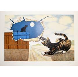 Gatti con luna