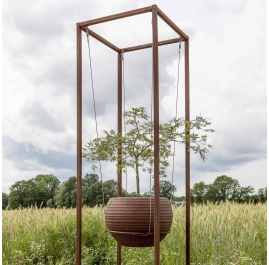 Outdoor Cuboid for floating pots - Cuboid Small - Unique Garden Ornament