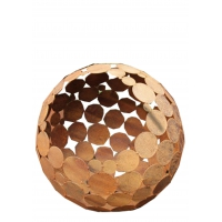 """Outdoor Fire Pit - """"Globe"""" - iron oxide - Tall Height"""
