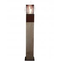 """Oak Column & Garden Torch """"Cube"""" - Straight - Handmade"""