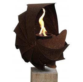 """Oak Column and Garden Torch - """"Ammon"""" - Small - Handmade"""