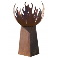 """Firepit """"Flame"""" With Angled Pedestal - Low"""