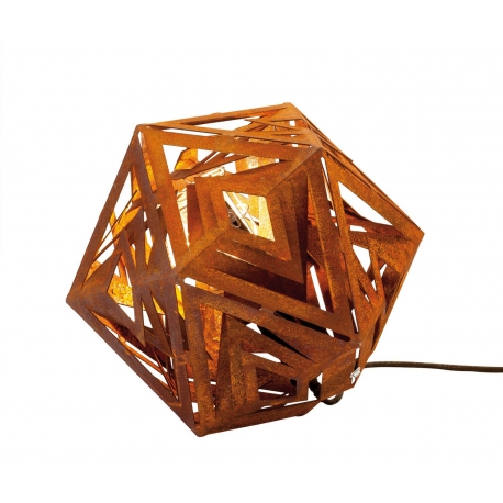 """Outdoor Lamp - """"Ikosaeder"""" - contemporary indoor and garden ornament - Small"""