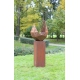 """Firepit """"Drop"""" With Angled Pedestal - Tall"""