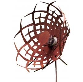 """Außenlampe - """"Regenschirm"""" (Alpha) - Rostig - ART - Gartendekoration - 70cm"""