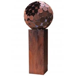 """Buiten vuurplaats - """"Globe"""" met sokkel - Medium hoogte"""