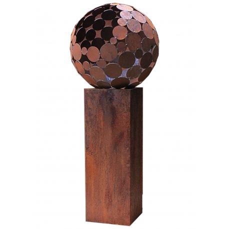 "Outdoor Fire Pit - ""Globe"" with pedestal - Medium Height"