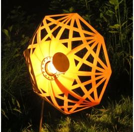 """Buitenlamp - """"Paraplu"""" (Beta) - Roest - ART - tuindecoratie - 70cm"""