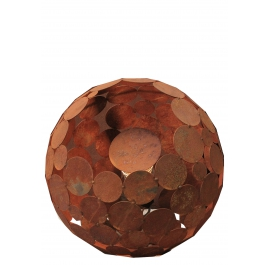 """Außenlampe - """"Globe"""" - Eisenoxid - ART - Gartendekoration"""