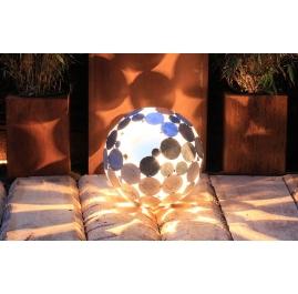 """Außenlampe - """"Globe"""" - verzinkte Kunst-Gartendekoration"""