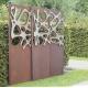 "Steel Garden Wall - ""Triptychon Stainless Steel"" - outdoor ornament - 225×195 cm"