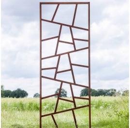 """Stahl-Gartenwand - """"Pflanzen-Kletterwand"""" - moderne Außenverzierung - 75×195 cm"""