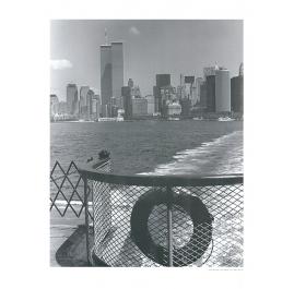 Lower Manhattan vanaf de Staten Island Ferry