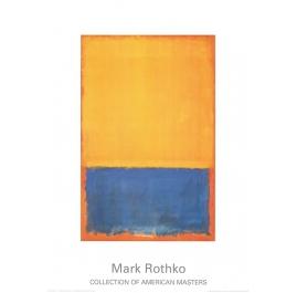 ohne Titel (Gelb, Blau auf Orange)