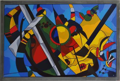 Tribute to Kandinsky kunstwerk door Riekje Lammers